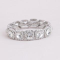 Femme Bracelets Rigides Mode Strass Alliage Formé Carrée Forme Géométrique Bijoux PourMariage Soirée Occasion spéciale Anniversaire