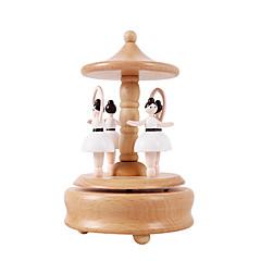 Spieluhr Kreisförmig Urlaubszubehör Holz Unisex