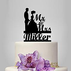 Decorações de Bolo Personalizado Casal Clássico Acrilíco Casamento Aniversário Despedida de Solteira Tema Clássico Tema Conto de Fadas PPO