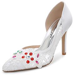 נשים-סנדלים-משי חומרים בהתאמה אישית סינטתי-נעלי מועדון-לבן-חתונה שטח משרד ועבודה שמלה יומיומי מסיבה וערב-עקב סטילטו