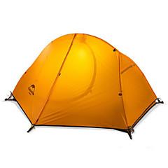 Naturehike 1 사람 텐트 더블 베이스 캠핑 텐트 원 룸 접이식 텐트 따뜨하게 유지 비 방지 폴더 용 캠핑 나일론 실리콘 CM