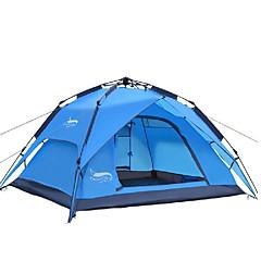 3-4 személy Sátor Dupla Automatikus sátor Egy szoba kemping sátor 2000-3000 mm Oxford Vízálló-Kemping-