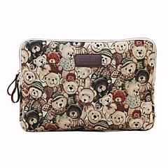 11.6 12 13.3 14.1 15,6 polegadas bonito urso saco de computador portátil bolsa caso para superfície / dell / hp / samsung / sony etc
