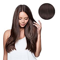7 buc / set # 4 maro închis maro mocha clip în extensii de păr 14 inch 18 inch 100% păr uman