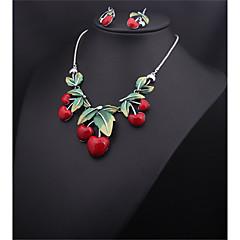 בגדי ריקוד נשים שרשראות גדילים תכשיטים שרף סגסוגת עיצוב בייסיק אדום תכשיטים ל חתונה Party ארוסים יומי קזו'אל 1pc