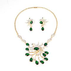 Komplet nakita Umjetno drago kamenje Kubični Zirconia Euramerican Kubični Zirconia Umjetno drago kamenje Legura Jewelry Crvena Zelen1