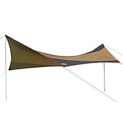 DesertFox® 쉘터 & 타프 캠핑 쉘터 싱글 캠핑 텐트 원 룸 접이식 텐트 방수 자외선 방지 비 방지 선크림 용 캠핑 & 하이킹 피싱 등산 2000-3000 mm 옥스포드-550*560 CM