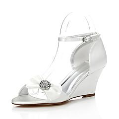 Svatební obuv-Hedvábí-Pohodlné barvitelného Boty-Dámské--Svatba Outdoor Kancelář Šaty Party-Klín