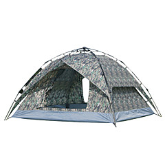 3-4 személy Sátor Egyszemélyes Automatikus sátor Egy szoba kemping sátor >3000 mm Üvegszál OxfordPárásodás gátló Vízálló Lélegzési