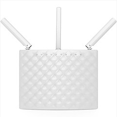Tenda smart trådløs router 1900mbps dual-band gigabit fiber wifi router ac15