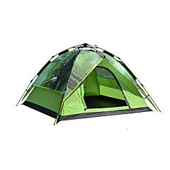 3-4 személy Sátor Dupla Automatikus sátor Egy szoba kemping sátor 2000-3000 mm Oxford Vízálló-Kemping