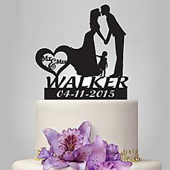 Decorações de Bolo Casal Clássico Casamento Romance Casamento Família Bolsa Poly