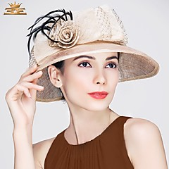 Feather Flax Headpiece-Wedding Special Occasion Casual Office & Career Hats 1 Piece