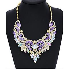 Damen Halsketten Imitation Diamant Runde Form Flügel Glas DiamantimitateBasis Kreisförmiges Einzigartiges Design Kreis Modisch Vintage