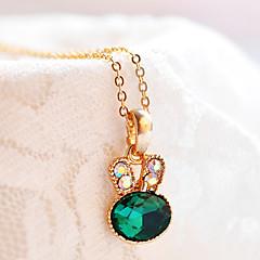 בגדי ריקוד נשים שרשראות תליון ברקת תכשיטים אזמרגד סגסוגת אופנתי Euramerican סגנון מינימליסטי תכשיטים עבורחתונה Party יום הולדת