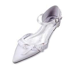 Feminino Sapatos De Casamento Conforto D'Orsay Cetim Primavera Verão Casamento Social Festas & Noite Laço Rendado Fru-Fru Franzido