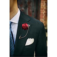 Kadın's Erkek Broşlar Çiçek Stili Kumaş alaşım Flower Shape Mücevher UyumlulukDüğün Parti Parti/Gece Davet/Parti Gece Partisi Doğumgünü