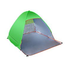 3-4人 徒歩用スティック キャンプ用ベッド折り畳み式ベッド シングル 自動テント 1つのルーム キャンプテント キャンバス 通気性 防湿 携帯用 抗放射線 テント-キャンピング&ハイキング-