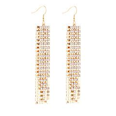Women's Earrings Set Imitation Diamond Pendant Sexy Tassels Movie Jewelry Euramerican Fashion Personalized Luxury Statement Jewelry Copper
