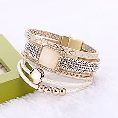 Femme Bracelets Bracelets en cuir Bohême Cuir Forme de Cercle Bijoux Pour Mariage Soirée Anniversaire Fiançailles Cérémonie Plein Air
