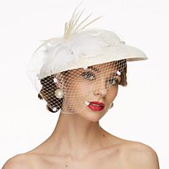 Δαντέλα Ύφασμα Δίχτυ Headpiece-Γάμου Ειδική Περίσταση Διακοσμητικά Κεφαλής Καπέλα Βέλα κλουβιού πουλιών 1 Τεμάχιο