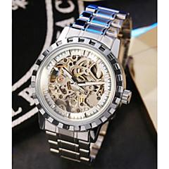 Pánské Hodinky s lebkou mechanické hodinky Křemenný Svítící Nerez Kapela Běžné nošení Bílá