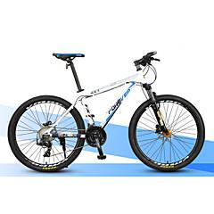 산악 자전거 Pyöräily 27 Nopeus 27 Inch MICROSHIFT 24 Tuplalevyjarru Etujousihaarukka Alumiiniseosrunko Alumiini Aluminium