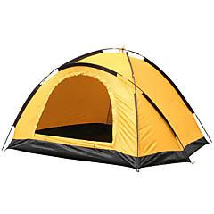 2 személy Sátor Egyszemélyes Összecsukható sátor Egy szoba kemping sátor <1000 mm Oxford ÜvegszálMelegen tartani Párásodás gátló Vízálló