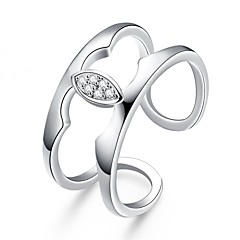 Dame Ring Kvadratisk Zirconium Enkelt design Rundt design Unikt design Tatovering Natur Geometrisk Cirkel Venskab Mode Movie smykker