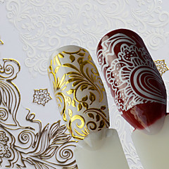 1 Nagel-Kunst-Aufkleber Muster Bastelmaterial Aufkleber Make-up kosmetische Nagelkunst Design