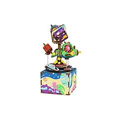 puzzle-uri Kit Lucru Manual Puzzle Puzzle Lemn Blocuri de pereti DIY Jucarii Fonograf Desen animat Compus