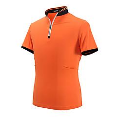 בגדי ריקוד גברים שרוולים קצרים גולף חולצת POLO צמרות נוגד קמטים נושם נוח גולף