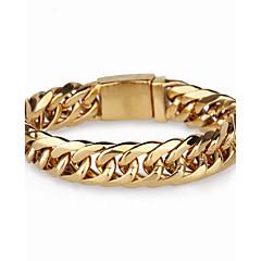 Herre Kæde & Lænkearmbånd Mode Rustfrit Stål Geometrisk form Smykker Til Fest Daglig Afslappet
