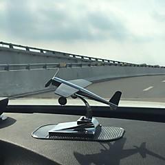 Diy ornamentos automotivos pendente de carro de aeronave de energia solar&Ornamentos de metal