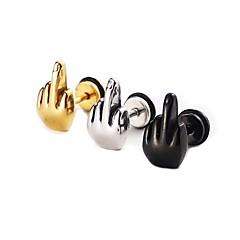 Férfi Női Beszúrós fülbevalók Punk stílus Személyre szabott Szikla Hipoallergén minimalista stílusú jelmez ékszerek Rozsdamentes acél