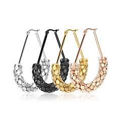 Dámské Náušnice - Kruhy Šperky bižuterie Módní Nerez Oval Shape Triangle Shape Šperky Pro Svatební Párty Podium Street