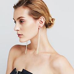 Mulheres Brincos Compridos Imitação de Pérola Imitação de Diamante Sexy Moda Personalizado Euramerican Jóias filme Cobre Formato de Linha