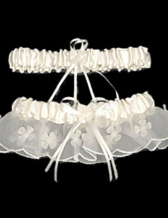 2-Piece Satin With Beading Wedding Garters