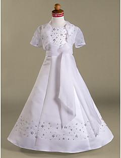 BASIMA - Kleid für Blumenmädchen aus Organza und Satin mit Bolerojäckchen