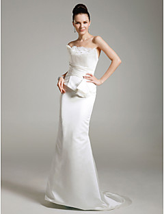 Formal Evening/Military Ball Dress - Ivory Plus Sizes Trumpet/Mermaid Strapless Sweep/Brush Train Satin/Tulle