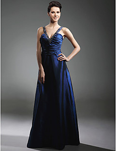 Prom/Military Ball/Formal Evening Dress - Royal Blue Plus Sizes A-line/Princess V-neck/Straps Floor-length Taffeta