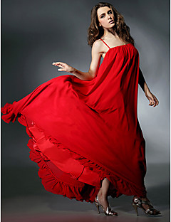 Formal Evening Dress - Ruby Plus Sizes A-line Spaghetti Straps Floor-length Chiffon/Charmeuse