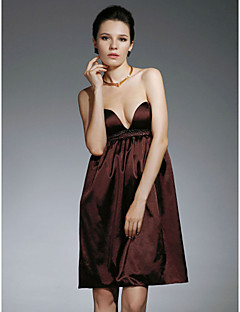 Cocktail Party Homecoming Dress - Celebrity Style Sheath / Column Strapless Sweetheart Short / Mini Satin with Beading