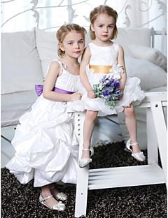 A-line/Princess Ankle-length Flower Girl Dress - Taffeta Sleeveless