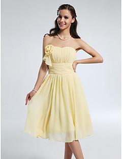 lanting 무릎 길이 쉬폰 들러리 드레스 - 선화 플러스 크기가 / 라인 / 공주 끈 / 연인 아담 형