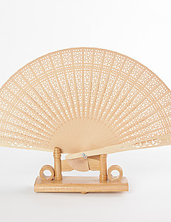 Intricate Openwork Sandalwood Hand Fans (set of 6)