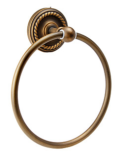Antique Wall-mounted Towel Ring(Finish  Antique Brass)
