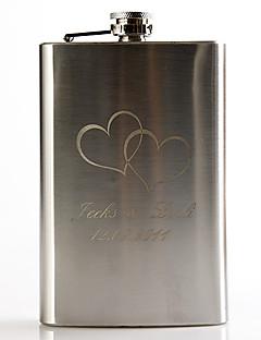 lahja groomsman henkilökohtainen metalli 9-oz pulloon - telesthesia