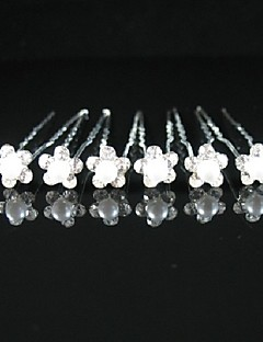Women's/Flower Girl's Alloy/Imitation Pearl Headpiece - Wedding/Special Occasion/Casual/Outdoor Hair Pin