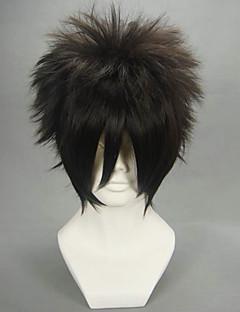 Pelucas de Cosplay Naruto Sasuke Uchiha Negro Corto Animé Pelucas de Cosplay 30 CM Fibra resistente al calor Hombre